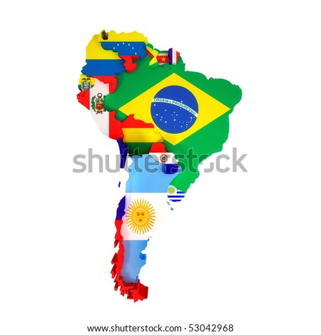 South America Map Countries Capital Cities Stock Illustration ...