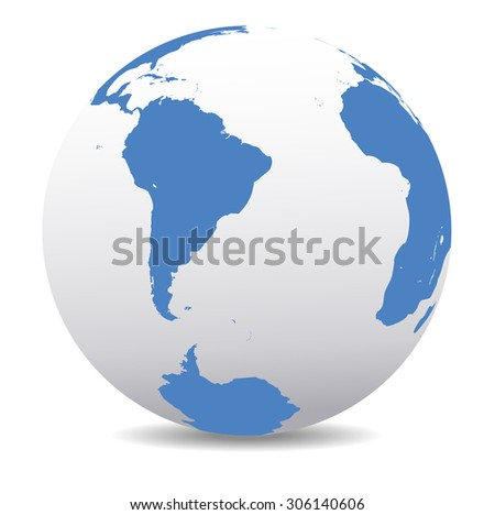 South America,South Pole and Africa Global World - Raster Version - stock photo