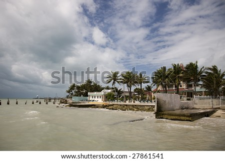 South Beach in Key West - stock photo