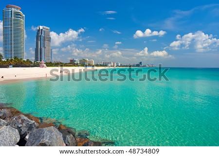 South Beach, Miami, Florida - stock photo
