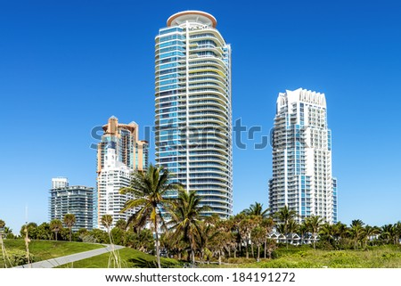 South beach Miami, modern building, Florida - stock photo