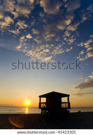 South Beach Sunrise, Miami, Florida - stock photo