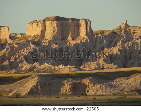 South Dakota Badlands - stock photo