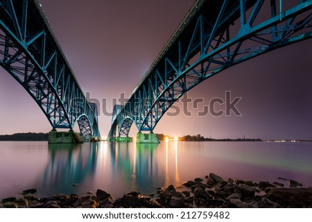 South Grand Island Bridge spans the Niagara River in Upstate New York.