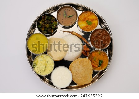 south Indian Thali - stock photo