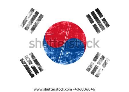 South korea flag - stock photo