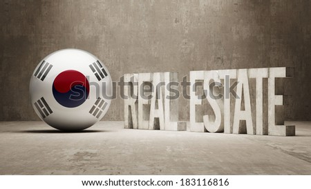 South Korea High Resolution Real Estate Concept - stock photo