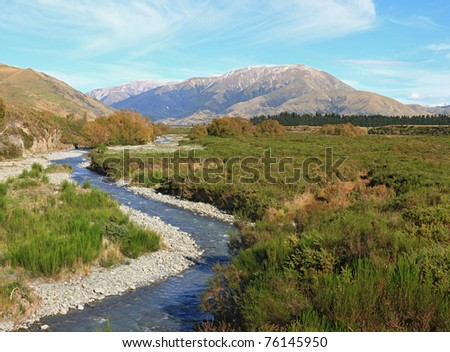 Southern alpine alps mountain at Arthur's Pass National Park New Zealand - stock photo