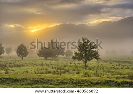 Southern Alps in early morning light, South Island, New Zealand