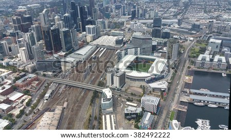 Southern Cross Station Melbourne Helicopter
