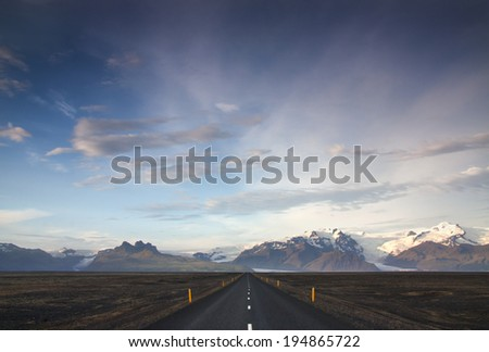 Southern Iceland./ Ring Road. - stock photo