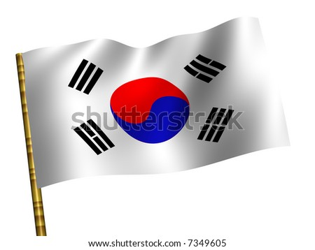 Southern Korea. National Flag