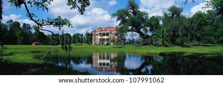 Southern plantation called Drayton Hall. It is a pre-Revolutionary plantation set on the Ashley River.