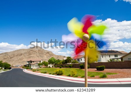 Southwest neighborhood designed for friendly environment - stock photo