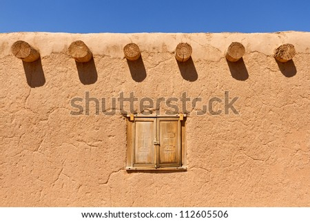 Southwestern adobe wall background - stock photo