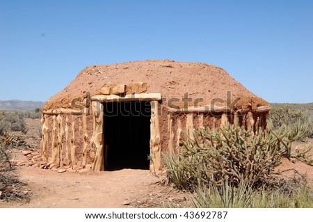 southwestern native american structure - stock photo