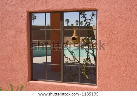 Southwestern Patio Window - stock photo