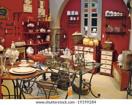 souvenir store - stock photo