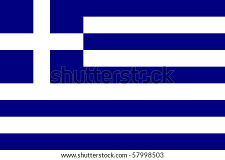 Sovereign state flag of country of Greece in official colors. - stock photo