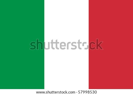 Sovereign state flag of country of Italy in official colors. - stock photo