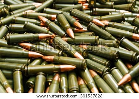 Soviet ammo - stock photo