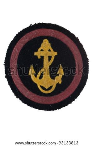 soviet army marines badge isolated - stock photo