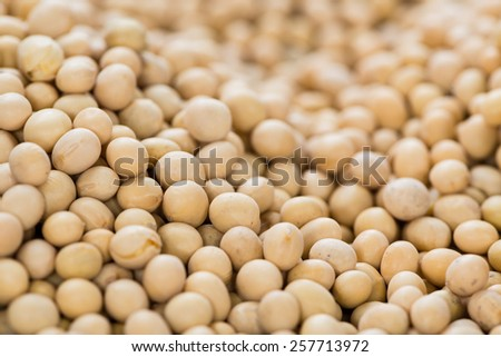 Soy Beans close-up shot for use as background image or as texture - stock photo