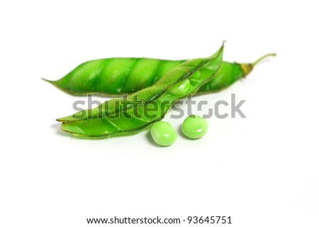 Soybean isolated on white background - stock photo