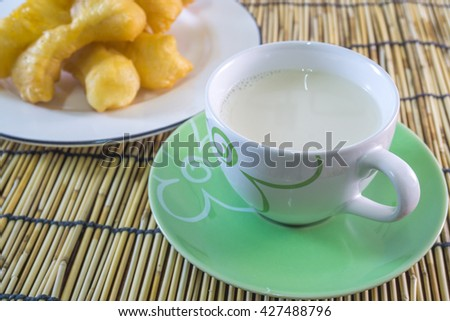 Soybean milk with fried bread stick