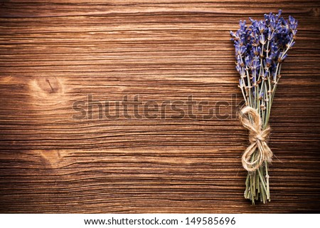 Spa accessories, lavender. - stock photo