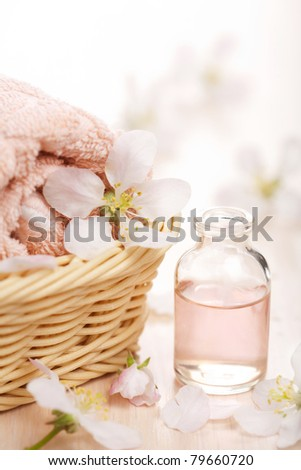 spa and aromatherapy set - stock photo