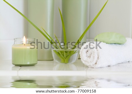 Spa and Bath Products - stock photo