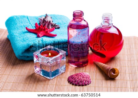 spa and body care background - stock photo