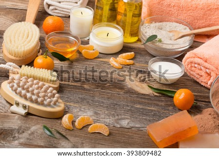 spa background - stock photo