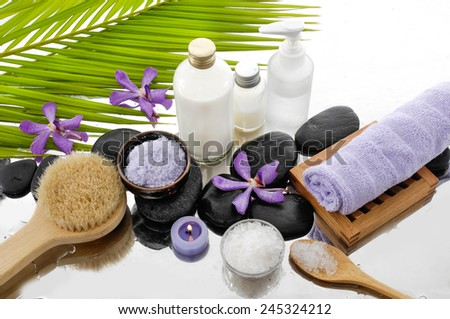 spa background-spa set  - stock photo