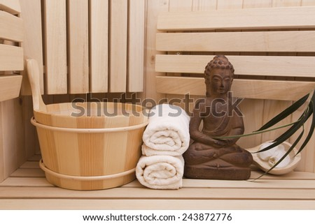 SPA background with Buddha - stock photo