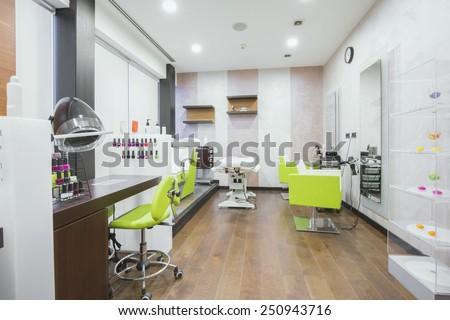 Spa center interior - stock photo