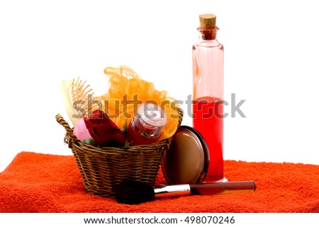 spa concept - bathing products isolated