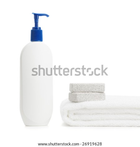 Spa display against a bright white background.