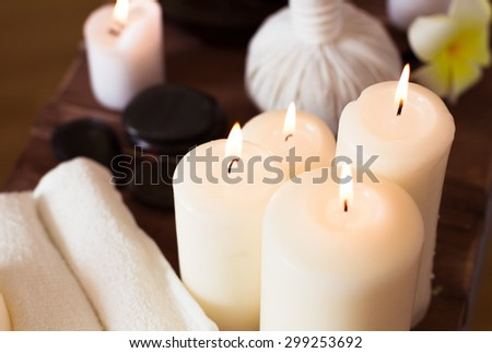 Spa elements. Close-up - stock photo