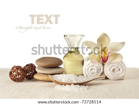 Spa elements isolated - stock photo