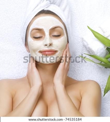 Spa Facial Clay Mask - stock photo