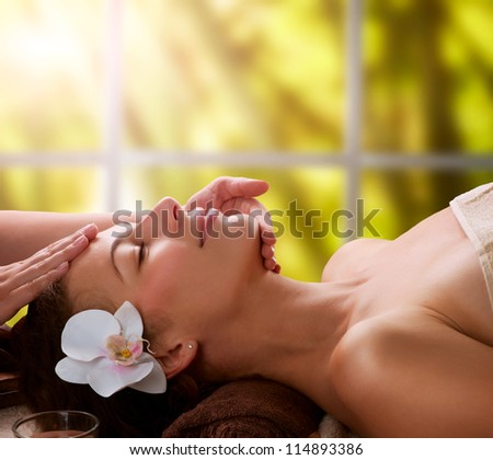Spa Facial Massage - stock photo