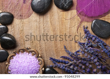 spa frame - stock photo