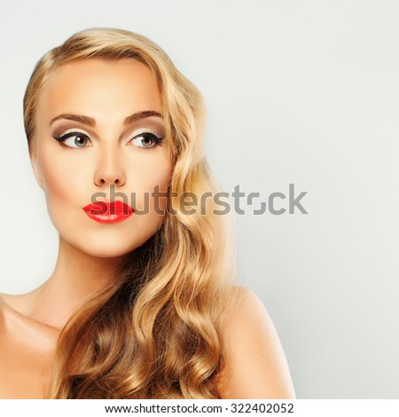 Spa Girl Portrait. Healthy Skin and Blond Hair. Beautiful Woman - stock photo