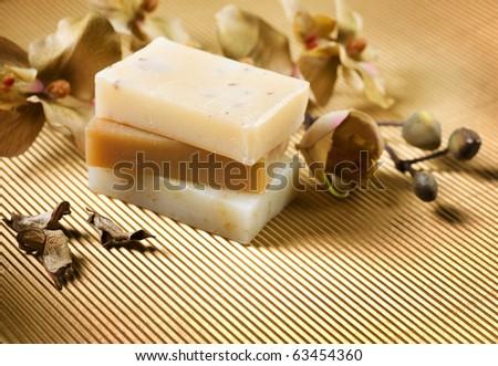 Spa.Handmade Soap - stock photo