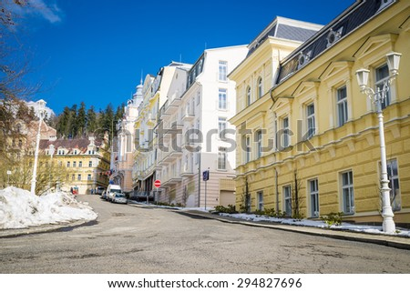 "spa ""marianske lazne"" in winter time"