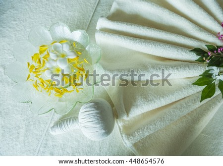 Spa massage compress herbal ball  - stock photo