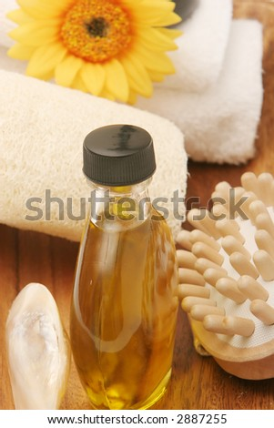 Spa objects on a tray