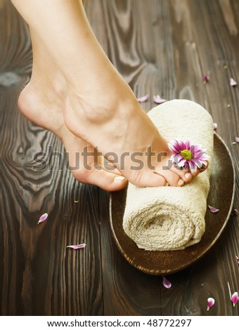 Spa or Pedicure concept - stock photo